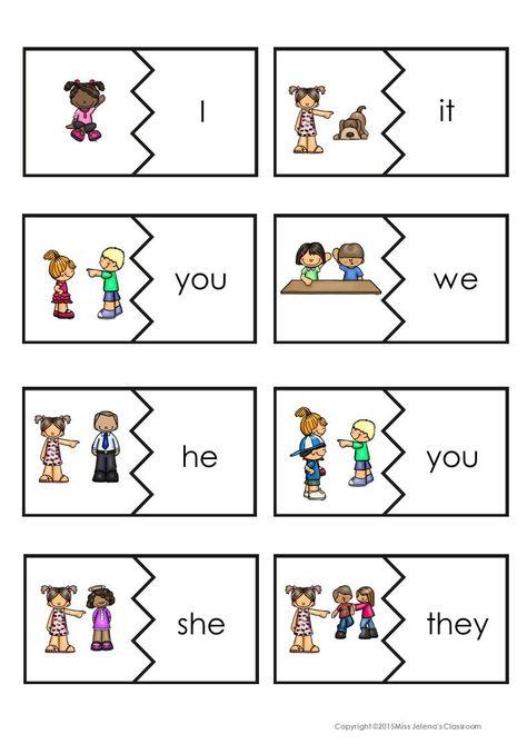 Картинки местоимений на английском для детей