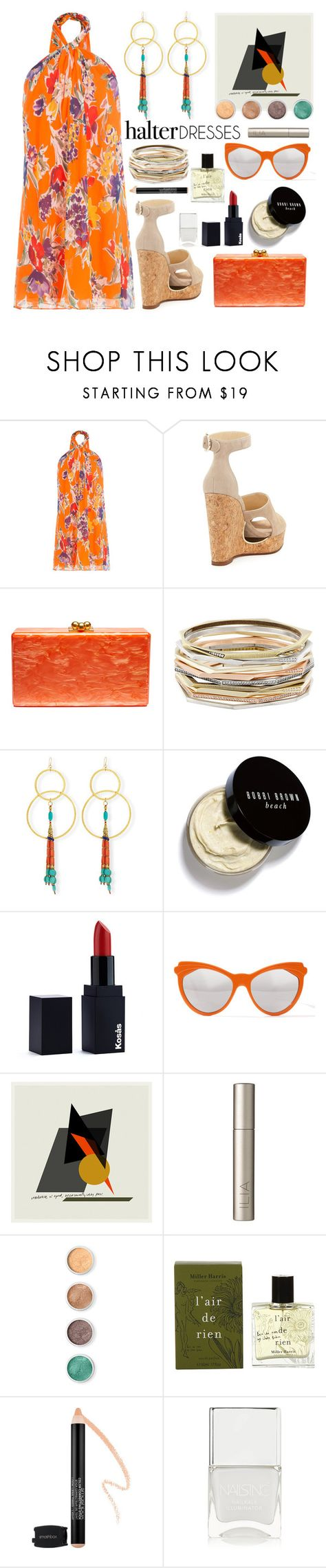 """""""Vacation Days ( Top Set )"""" by sue-mes ❤ liked on Polyvore featuring Polo Ralph Lauren, Jimmy Choo, Edie Parker, Kendra Scott, Devon Leigh, Bobbi Brown Cosmetics, Zanzan, Ilia, Terre Mère and Miller Harris"""