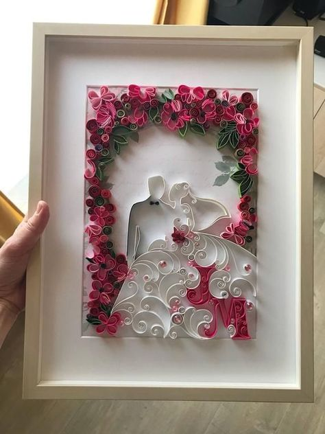 One year anniversary - Quilling first anniversary - #anniversary #Quilling #year
