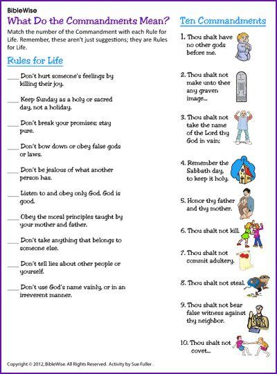 Image result for ten commandments for kids printable ...