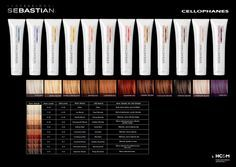 Sebastian Professional Cellophanes Color Chart Sebastian Cellophanes Cellophane Hair Color Hair Color Swatches
