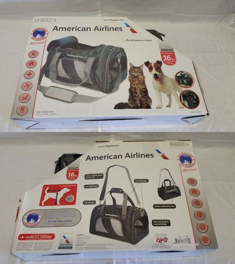 Carriers and Crates 26702  Sherpa American Airlines Duffle Pet Carrier e4454c07cb860