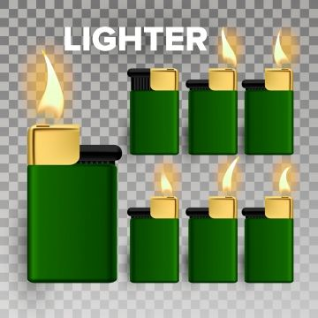Lighter Vector Fire Object Blank 3d Realistic Lighter Icon Hot Smoker Metal Illustration Lighter Vector Flame Png And Vector With Transparent Background For Light Icon Lighter Logo Design Free Templates