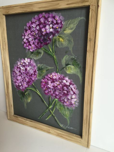 This beautiful 16x20 inch wood framed hydrangea II painting is ready to bring beauty to any home  This can be hang indoor or outdoor of your
