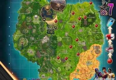 Fortnite Season 7 Week 6 Cheat Sheet Map Challenges Fortnite Free Fonts Download Free Font
