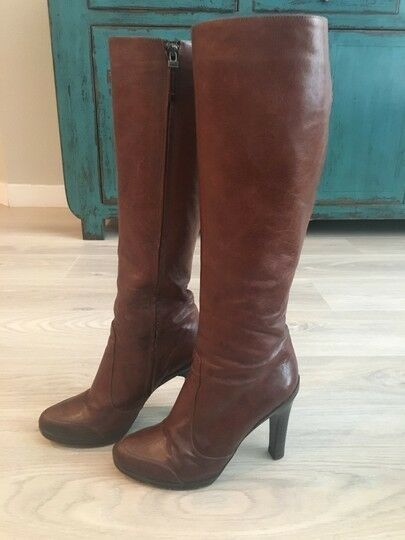 Vintage FENDI Brown Tall Leather Boots