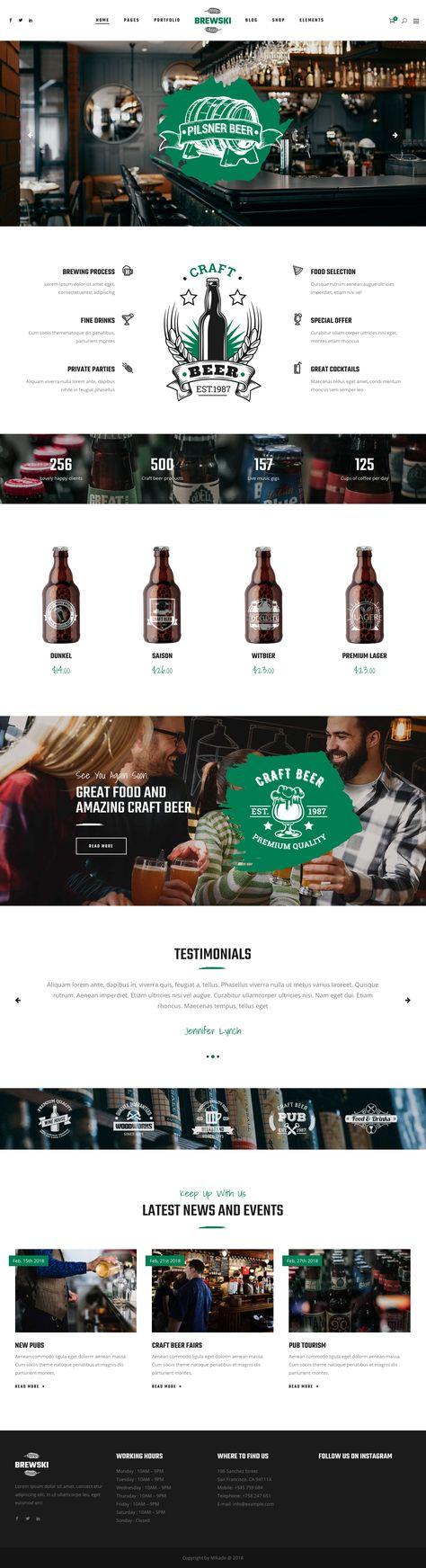 Brewsky beer website template