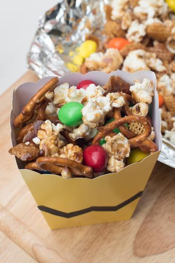 Sweet And Salty Popcorn Snack Mix Recipe Yummly Recipe Popcorn Snacks Mix Snack Mix Popcorn Snack Mix Recipes