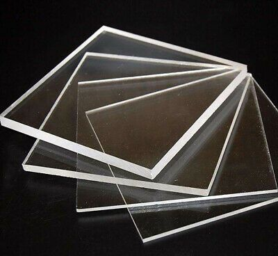 Clear Perspex Acrylic Sheet Plate Pmma Panel 150 X 150 To 500mm Thick 1 10mm In 2020 Acrylic Plastic Clear Perspex Metal Working Tools