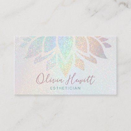 Faux Glitter Esthetician Business Card With Images Esthetician