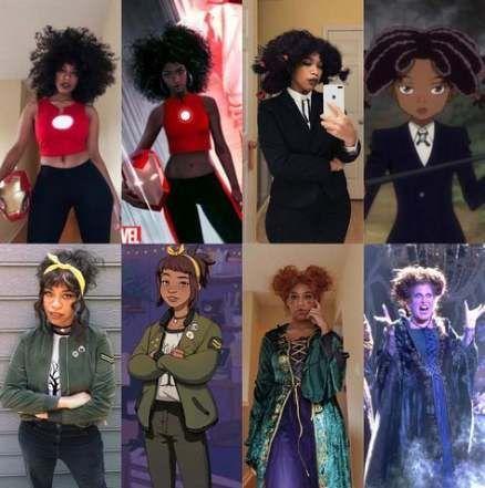Make Up Ideen Fur Schwarze Frauen Brown Skin Halloween Kostume 33 Ideen Brown Frauen Fu In 2020 Black Girl Halloween Costume Cosplay Outfits Cute Cosplay