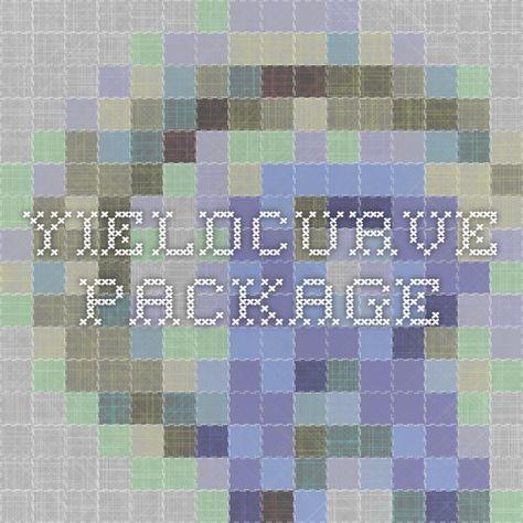 YieldCurve package