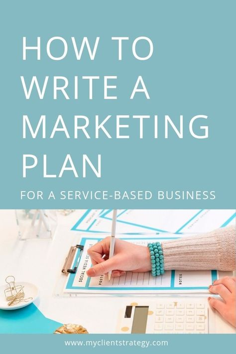 How to write a marketing plan for a service-based business