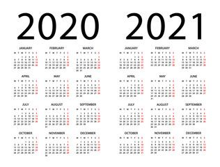 Calendar 2020 2021 Illustration Week Starts On Monday Spon Calendar Illustration Monday Starts W Calendar 2020 Web Template Design Illustration