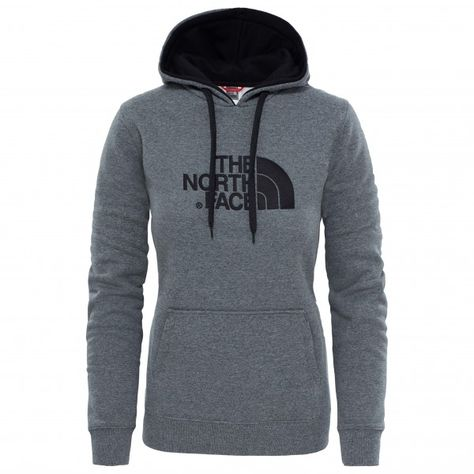 drew peak pullover hoodie maat xs grijs zwart the north face