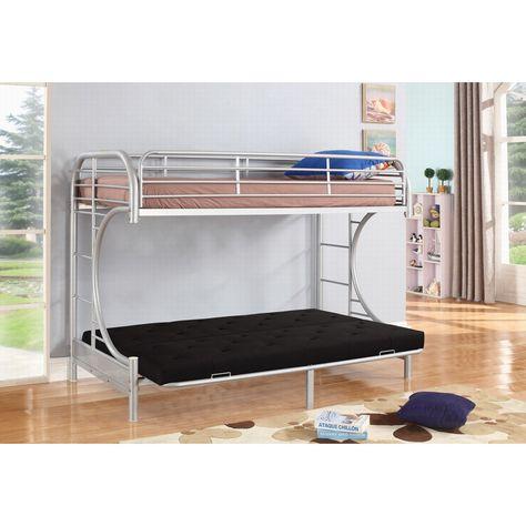 Jordan Twin Over C Futon Metal Bunk Bed