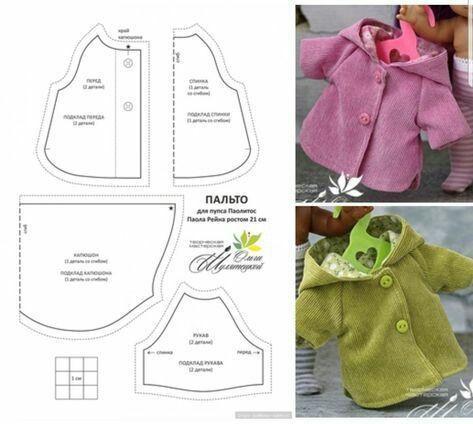 Blusa e casacos para bonecas- com moldes como faço, trabalhos manuais passo a passo, técnicas de criatividade