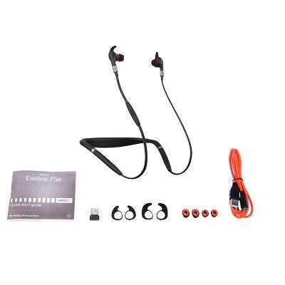 Jabra Evolve 75e Ms Wireless Headset Music Headphones Music Headphones Wireless Headset Headphones