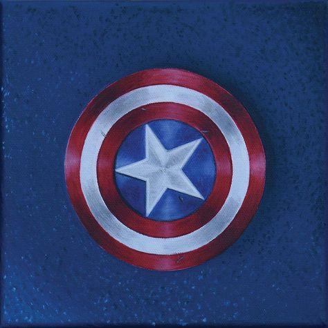 CAPTAIN AMERICA / Original superhero art - By Andy Habib