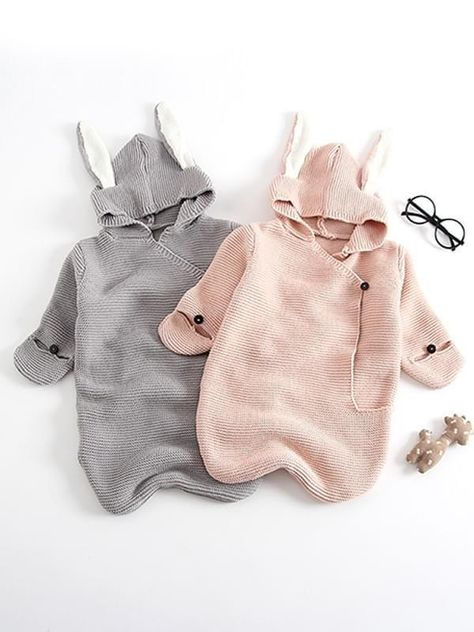 Bunny Ears Knitted Sleeping Bag