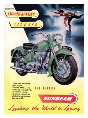 Sunbeam S7 1947 MOTORCYCLE  RETRO METAL TIN SIGN POSTER WALL PLAQUE