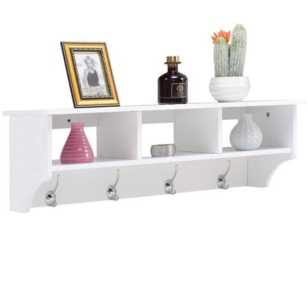 Home Wall Mounted Coat Rack Wall Mounted Cabinet Entryway Storage Shelf