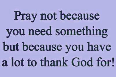 Thank the Lord everyday #prayer