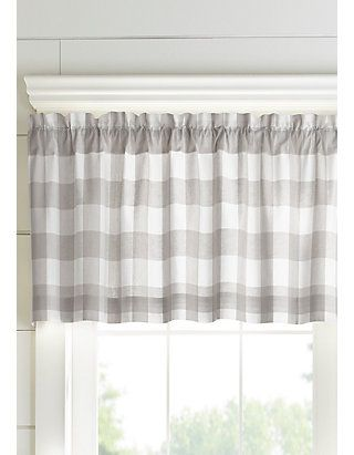 Farmhouse Living Buffalo Check Window Valance In 2020 Farmhouse