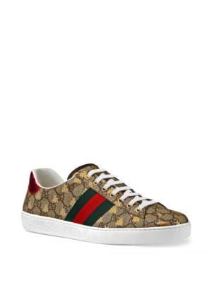 Gucci New Ace Bees-embellished Cotton