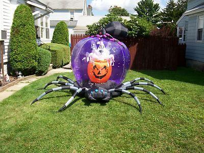 Gemmy Prototype Spiders Ghost Whirlwind Globe Halloween Airblown Yard Decor | eBay