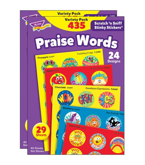 TREND enterprises Positive Words Stinky Stickers Variety Pack 300 ct Inc