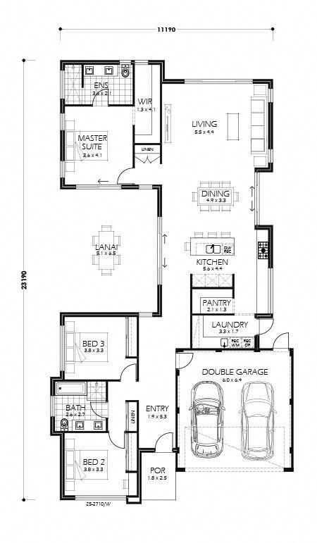 Rancho Mirage Perth Home Design 218sq Millstone Homes House Plans Australia Narrow Lot House Plans Home Design Floor Plans