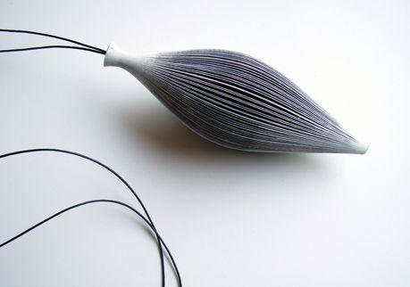 Michihiro Sato, Japan: printed paper necklace