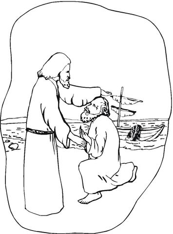 Jesus Healing The Sick Coloring Page Coloring Pages Jesus Heals