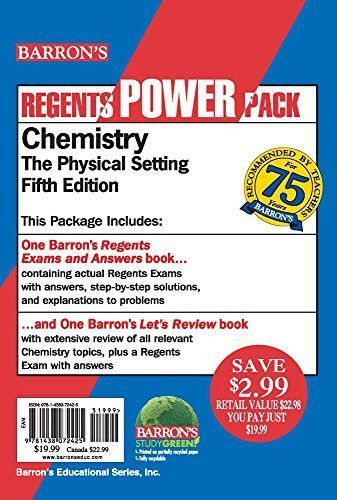Chemistry Power Pack (Regents Power Packs) | EARTH SCIENCE
