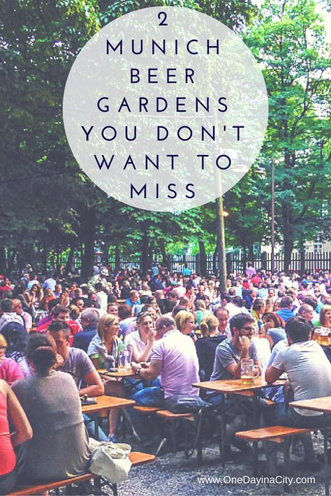 Two tasty, fun and very different beer gardens that will show you a wide range of Munich's breweries.