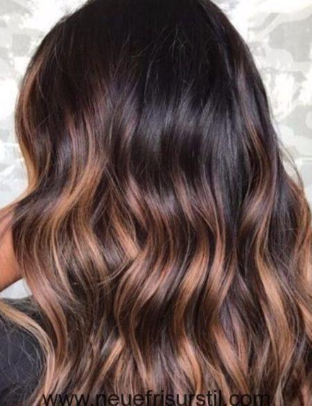 Schokolade Braun Haarfarbe Mit Highlights Haarfarbe Ideen