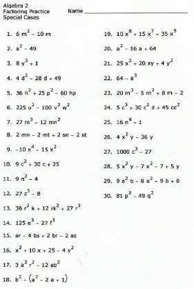 Factoring Difference Of Squares Worksheet Welcome In Order To
