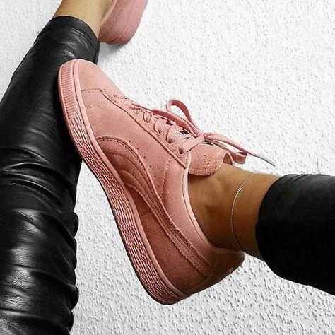 sneakers femme puma suede rose