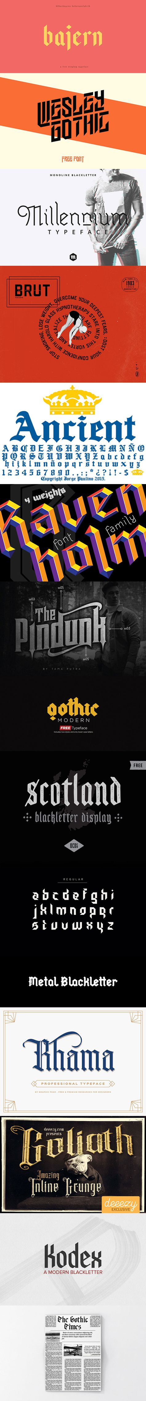 15 Free Stunning Blackletter Fonts