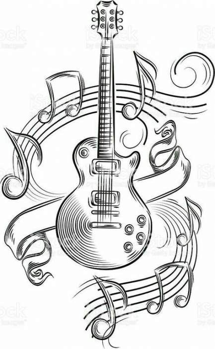 Music note drawing artworks tattoo ideas 33 New Ideas #drawing #tattoo #music
