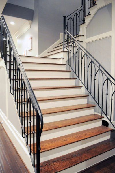 Wrought Iron Stair Railing Southern Staircase Artistic Stairs