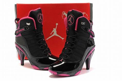 super popular 57be0 bff84 www.airhighheels2u.com nike-air-jordan-6-ring-heels-black-pink.html
