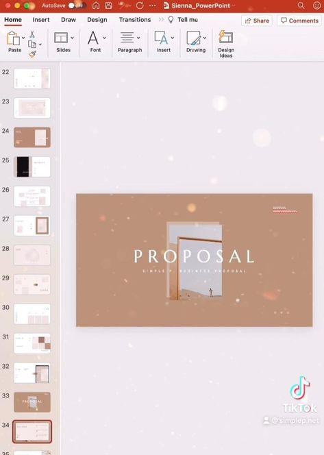 Sienna Presentation Layout Design