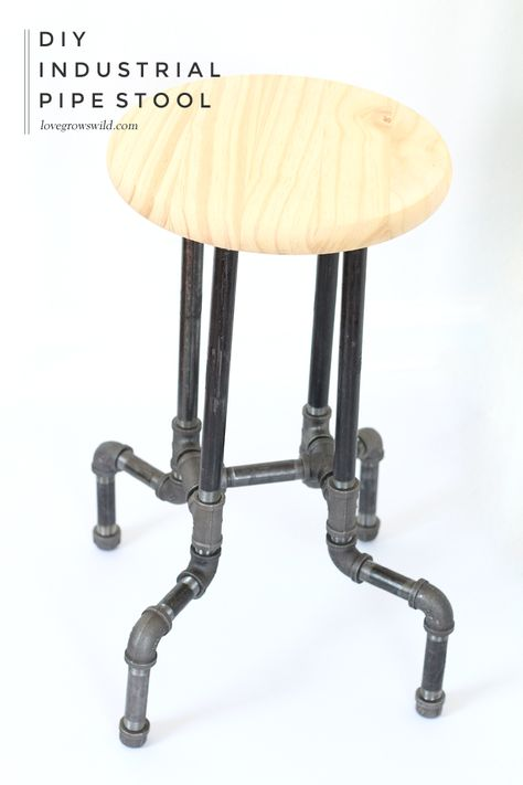 #DIY Industrial Pipe Stools for your kitchen or office with no tools required!