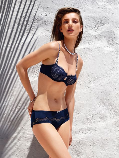 c74658c89392e Marie Jo ~ Dolores Balcony Vertical Seam Bra in Sapphire Blue from Amazing  Grace Lingerie UK