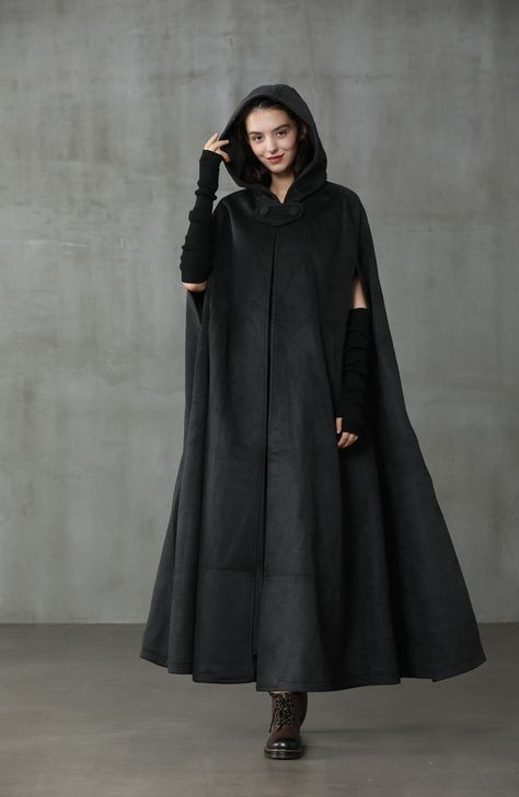 Hooded Wool Coat, Hooded Cloak, Hooded Dress, Winter Cloak, Winter Cape, Cape Coat, Wool Cape, Dress Up Wardrobe, Cashmere Cape