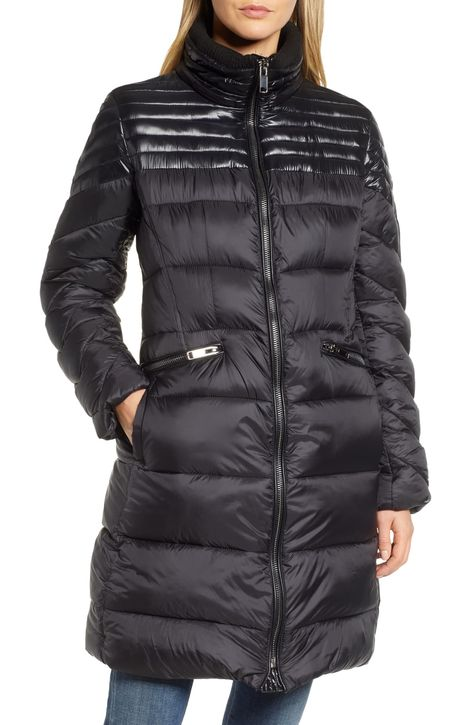 RACHEL Rachel Roy Faux Fur Detail Water Resistant Puffer Coat | Nordstrom