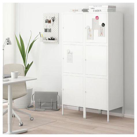 Armadio Ikea Bianco Due Ante.Hallan Mobile Con Ante Bianco 90x47x167 Cm Idee Ikea
