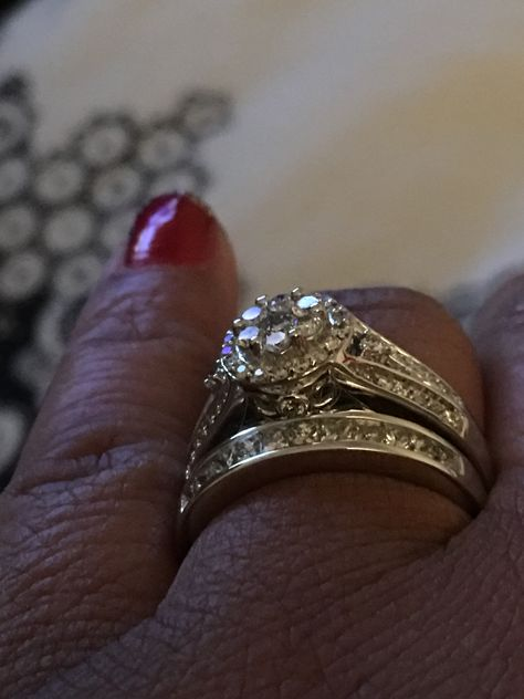 My rings are not a set My engagement ring found at BJs wholesale